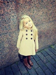 Girl toddler fashion...this little girl is the blonde version of my little girl. Too cute!