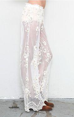 Love lace pants #boho ~ Colette Le Mason @}-,-;---
