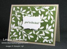 Simply Wonderful!!! Sale-A-Bration, Irresistibly Yours Designer Series Paper, Emboss Resist, Sponge Daubers, Decorative Label Punch, Simply Wonderful Stampin' Up Stamp Set www.LaurasStampPad.com