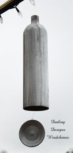 Authentic Compressed Gas Cylinder Wind Chime by DarlingDesignsbyLB Made by Veteran
