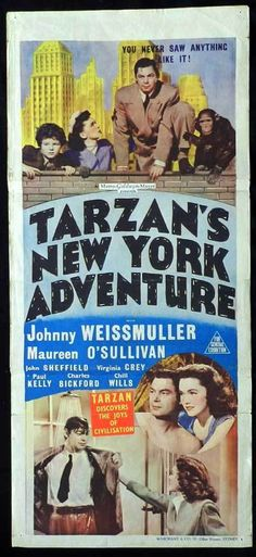 Tarzan Movies with Johnny Weissmuller | Starring Johnny Weissmuller, Maureen O'Sullivan, Johnny Sheffield ...