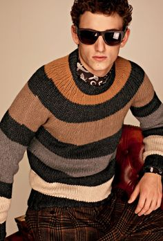dolce gabbana | f2012 - nice muted stripes... I would've fixed the jogging issue on the arm there, though. Just sayin'!