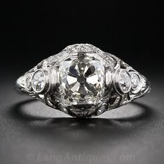2.02 Carat Vintage Diamond Engagement Ring - 10-1-5778 - Lang Antiques
