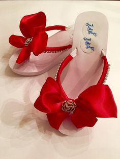 Items similar to Bridal Flip Flops.Bridesmaid Shoes Red Sandals Bridesmaid Sandals Bride Gifts on Etsy Bridesmaid Flip Flops, Wedding Flip Flops, Red Bridesmaids, Bridesmaid Shoes, Flip Flops Diy, Flip Flop Shoes, Red Flip Flops, Converse Wedding Shoes, Designer Wedding Shoes
