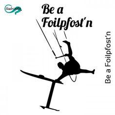 Motiv Thema Kitesurfen - Hydrofoil - Be a Foilpfost'n