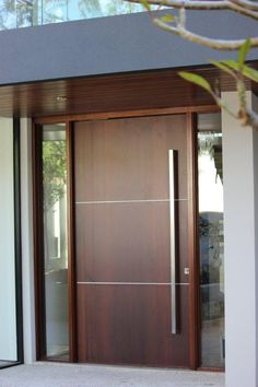 Mosman door with stainless steel inlay