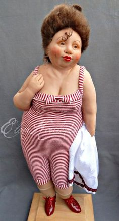 Art Doll By Elena Kirilenko. Clay Dolls, Doll Toys, Big And Beautiful, Beautiful Dolls, Toy Art, Paperclay, Fat Women, Little Doll, Soft Sculpture