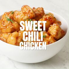 Easy Chinese Recipes, Asian Recipes, Mexican Food Recipes, Dinner Recipes, Chili Recipes, Sweet Chili Chicken, Thai Sweet Chili Sauce, Crispy Chicken, Healthy Cooking