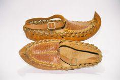 Yugoslavia /middle 20st century. Child's shoes Opanke style.