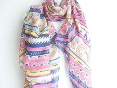 Paisley Pink Boho Scarf by myfashioncreations, $18.00