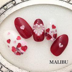 ♡新作♡バレンタインハートネイル♪ の画像|恵比寿プライベートネイルサロンMALIBU