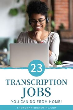 23 Transcription jobs! Check out this great list of jobs you can do from home. | The Work At Home Wife Work From Home Typing, Work From Home Jobs, Make Money From Home, Transcription Jobs From Home, Online Job Opportunities, Extra Money, Extra Cash, Typing Jobs, Freelance Writing Jobs
