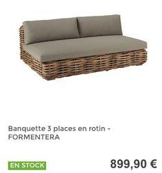 Banquette 3 places #MaisonsDuMonde