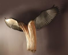 Nike Of The Forest  Wood Sculpture by Jason by jasontennant, $3200.00