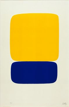 Yellow over Dark Blue, from the Suite of Twenty-seven Color Lithographs by Ellsworth Kelly. Search the Smithsonian American Art museum collection, one of the world's largest and most inclusive collections of art made in the United States. Blue Drawings, Ellsworth Kelly, New York Art, Diy Canvas Art, American Art, Art Lessons, Art History, Art Inspo, Pop Art