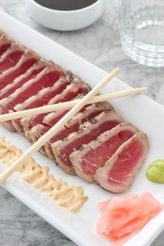 I'm finally able to prepare sushi grade, restaurant-style Seared Ahi Tuna at home thanks to @bbsuperfresh new line of frozen seafood! Their convenient dinners are the perfect holiday meal for the seafoodies in your life! I'm serving it up with my favorite Japanese spicy mayo recipe.