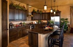 LOVE this kitchen layout and design