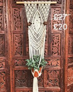 •••SOLD••• Fourth item is a wall plant hanger with diamond twist knot. Comment SOLD to purchase and I will message you purchase details.