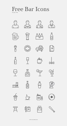 Bar set - 32 icons by spovv #icon #design #free #download #freebie