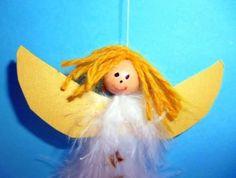 Engel aus Federn und Holzperlen - Weihnachten-basteln - Meine Enkel und ich - Made with schwedesign.de