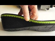 simple shoemaking: How to make custom high heel shoes using manufactured wedge soles - YouTube