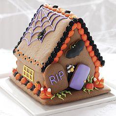 Halloween Gingerbread house so cute!