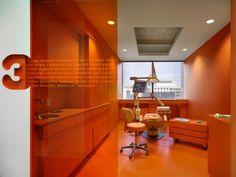 The use of colour? Implantlogyca Dental Office Interiors / Antonio Sofan Architect LEED AP