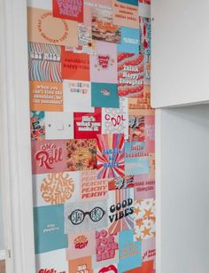 Diy Wall Collage Vsco Pastel Retro Aesthetic In 2020 Cute Room Ideas, Cute Room Decor, Teen Room Decor, Room Wall Decor, Bedroom Decor, Collage Mural, Bedroom Wall Collage, Photo Wall Collage, Photo Collages