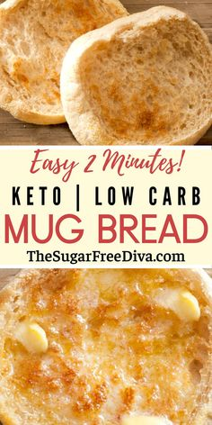 Super easy recipe for making keto low carb bread in a mug! Takes just 2 minutes. EASY! and YUMMY! This Keto Low Carb Mug Bread A quick and easy, bread recipe that is sugar free, to make that is keto and low carb friendly Read more at: thesugarfreediva.com/keto-low-carb-mug-bread/ Copyright © thesugarfreediva.com Healthy Bread Recipes, Mug Recipes, Almond Recipes, Low Carb Recipes, Fish Recipes, Lowest Carb Bread Recipe, Low Carb Bread, Low Carb Keto, Keto Mug Bread