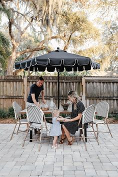 The cutest affordable French-inspired outdoor dining set
