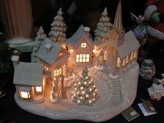 Extraordinary Ceramic Christmas Village Unpainted Paint