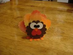 Tutorial to make this cute turkey from punches. Attach to a Peppermint Patty.