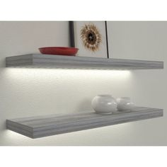 Veca Italy sells online illuminated shelves for the home. Led Shelves with electrical transformer or rechargeable battery, wooden lighted shelves Floating Shelves With Lights, Wall Installation, Wood Hangers, Dining Room Shelves, Black Floating Shelves, Modern House Design, Shelves, Home Furniture, Home Decor