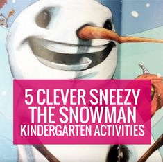 Are you on the hunt for a good January read aloud or set of sub plans? Here are free resources and a video to teach Sneezy the Snowman in kindergarten.