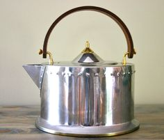 Vintage Italian Bodum Chrome Tea Kettle by OfAllTheFishVintage, $65.00