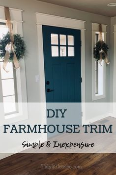 This is a great article detailing how to update your old outdated trim very easily and very inexpensively. This applies to your baseboards, around your doors, your windows, and your moldings. The farmhouse look you have always wanted. Farmhouse Trim, Farmhouse Windows, Farmhouse Interior Doors, Diy Interior Doors, White Farmhouse, Interior Design, Interior Window Trim, Painting Interior Doors, Craftsman Window Trim