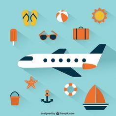 Summer-vacation-icons - Freepik-Tropical-Pin-32