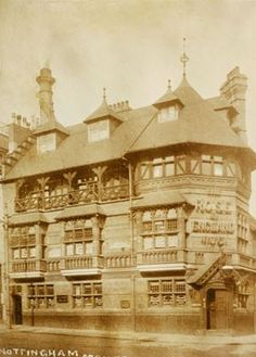 Watson Fothergill's The Rose of England Hotel - Pub, Mansfield Road Nottingham Pubs, Nottingham Castle, Local History, Family History, University Of Nottingham, Timber Ceiling, Old Pub, Hall Interior, Britain Uk