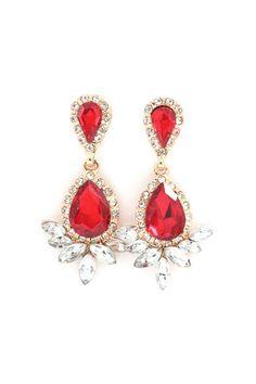 Sophie Earrings in Ruby