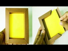 DIY Paper photo frame without glue Paper Photo Frame Diy, Paper Picture Frames, Photo Frame Crafts, Handmade Picture Frames, Handmade Frames, Paper Frames, Diy Picture Frame, Diy Photo Frame Cardboard, Photo Frame Ideas