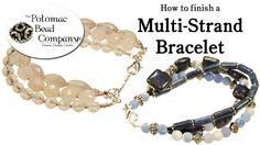 Crystal Lace Bracelet- DIY Jewelry Making Tutorial by PotomacBeads Lace Bracelet, Strand Bracelet, Beaded Bracelets, Wrap Bracelets, Bangles, Jewelry Making Tutorials, Beading Tutorials, Beads And Wire, Crimp Beads