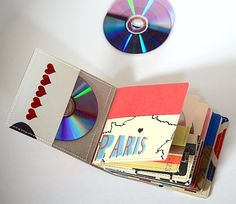 18 DVD Holder Art Book/ CD Wallet Handmade from by stripeycity