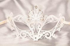 Luxury Venetian Filigree Metal Masquerade Mask - REGINA