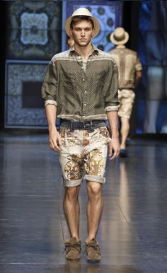 D&G Spring/Summer 2012 Men's Fashion Show Collection: Trendy & Iconic Italian Heritage Patterns & Sicilian Relaxing Lifestyle Inspiration