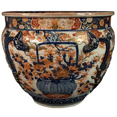 Large Imari Fish Boxl or Jardiniere end of 19th century