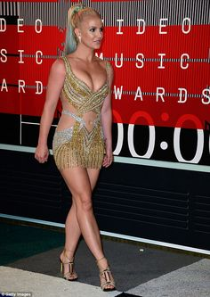 Putting her best foot forward! The Womanizer hit-maker elevated her outfit with a pair of strappy heels