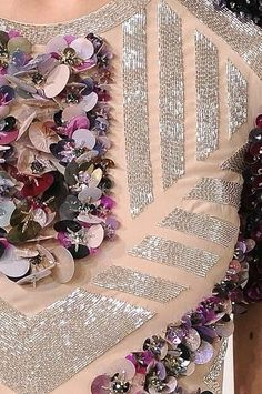 Large sequin flowers