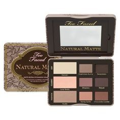 It's all the shades you loved in Too Faced Natural Eyes Palette but now in gorgeous mattes.Incredibly easy to wear and perfect for any day or nighttime look.