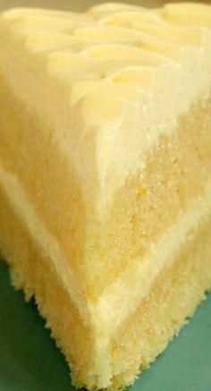 Lemon Cream Cake, Bake for 25 minutes
