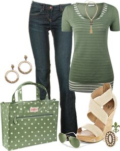 """Polka Dots and Stripes"" by hatsgaloore on Polyvore"